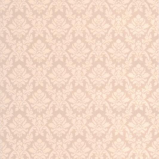 Damask Beige Wallpaper, , large