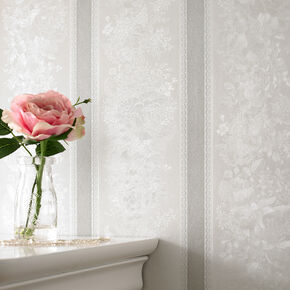 Floral Stripe Silver Mist, , large