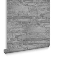 New Brick Grey Wallpaper, , large