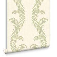 Venus Cream and Green Wallpaper, , large
