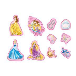 Mini décor en mousse Princesses – 10pièces, , large