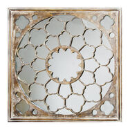 Silver Fretwork Mirror, , large