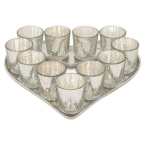 Heart Shaped Tealight Candle Holder, , large