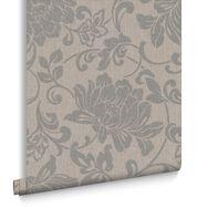 Jacquard Natural Wallpaper, , large