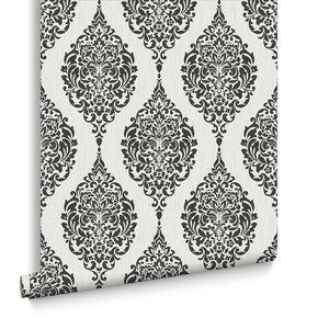 Luna Black and White Wallpaper, , large