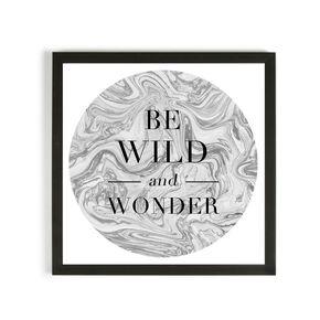 Be Wild & Wonder Framed Print, , large