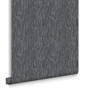Grasscloth Midnight Wallpaper, , large