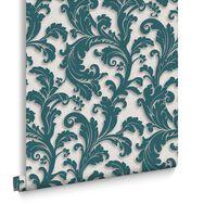 Capulet Teal Wallpaper, , large