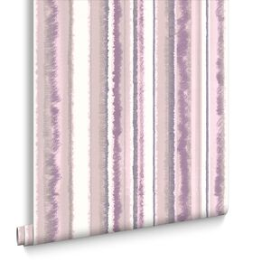 Romany Stripe Purple Wallpaper, , large