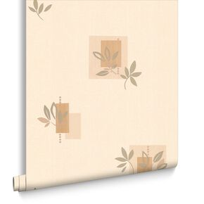 Seasons Cream and Gold Effect Wallpaper, , large