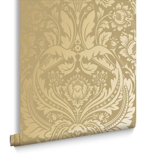 Desire Gold and Mustard Wallpaper, , large