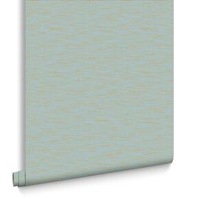 Breeze Aqua and Gold Wallpaper, , large