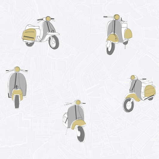 Scooter Mustard Wallpaper, , large