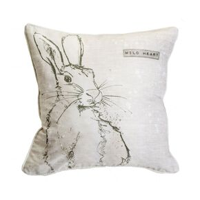 Wild Heart Hare Cushion, , large
