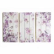 Vögel S und 3 und Schmetterlinge Druck auf Holz Wandkunst, , large
