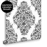 Floribunda Black and White Wallpaper, , large