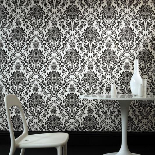 Elizabeth Black and White Wallpaper, , large