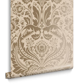 Desire Taupe and Metallic Wallpaper, , large