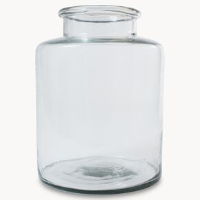 Large Clear Glass Vase, , large