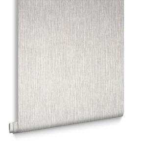 Grasscloth Cream Wallpaper, , large