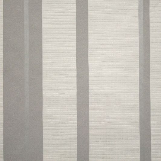 Hoppen Stripe White and Grey and Silver Wallpaper, , large
