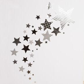 Silberner Stern Sticker, , large