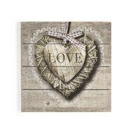 Love Print On Wood, , large