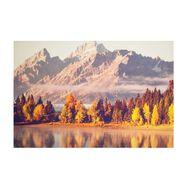 Toile imprimée Montagnes en automne, , large