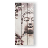 Buddha Print On Wood Wall Art, , large