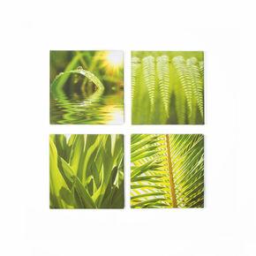 Quadruple vert Toiles imprimées de feuille, , large