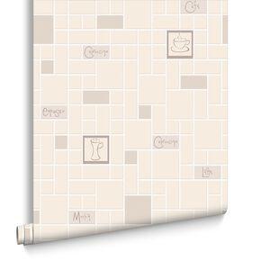 Cafe Culture Beige Wallpaper, , large