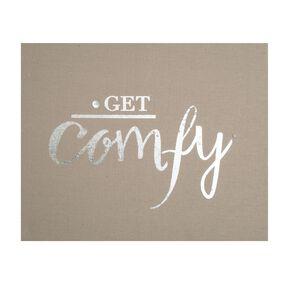 Get Comfy Embellished Fabric Canvas, , large