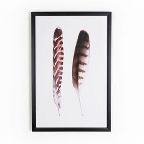 Reproduction encadrée Paire de plumes, , large