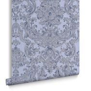 Montague Blue Wallpaper, , large