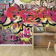 City Graffiti Wall Mural, , large