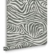 Zebra White and Black Wallpaper, , large