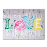 Neon Love Printed Canvas, , large
