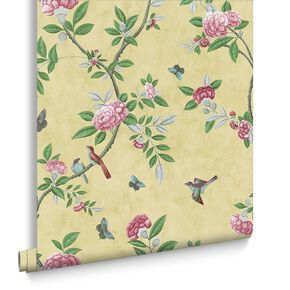 Chinoiserie Imperial Yellow Wallpaper, , large