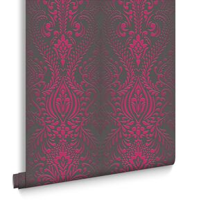 Glamour Damask Black et Pink, , large