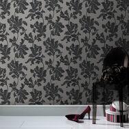 Acanthus Grey Wallpaper, , large