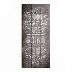 Good Things Print On Wood Wall Art, , large