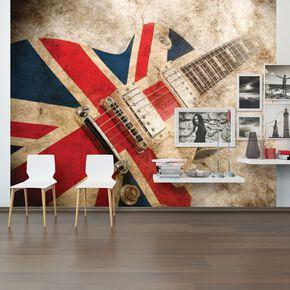 Rock Guitar Wall Mural, , large