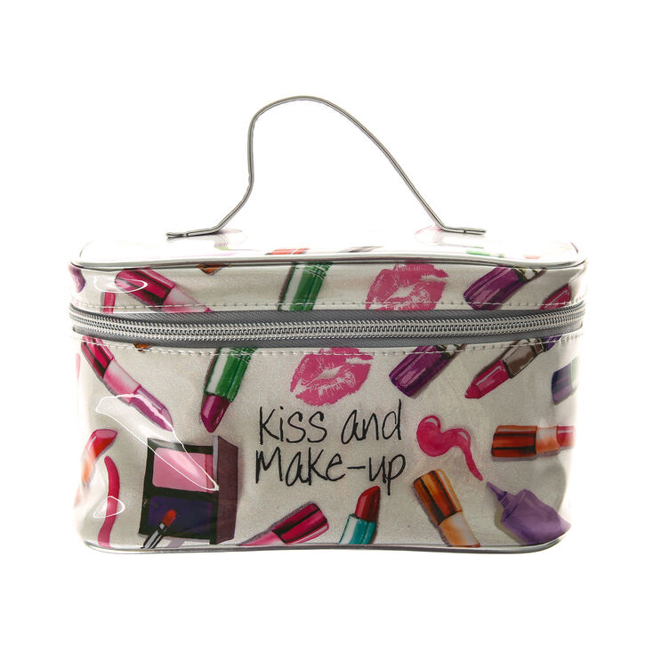 Kiss And Make Up: Kiss And Make Up Glitter Travel Cosmetics Case