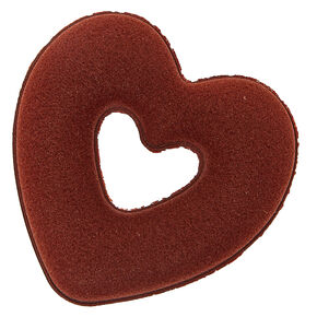 Brown Heart Hair Donut,