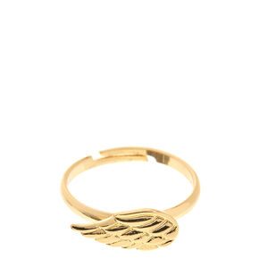 Gold-Tone Angel Wing Ring,