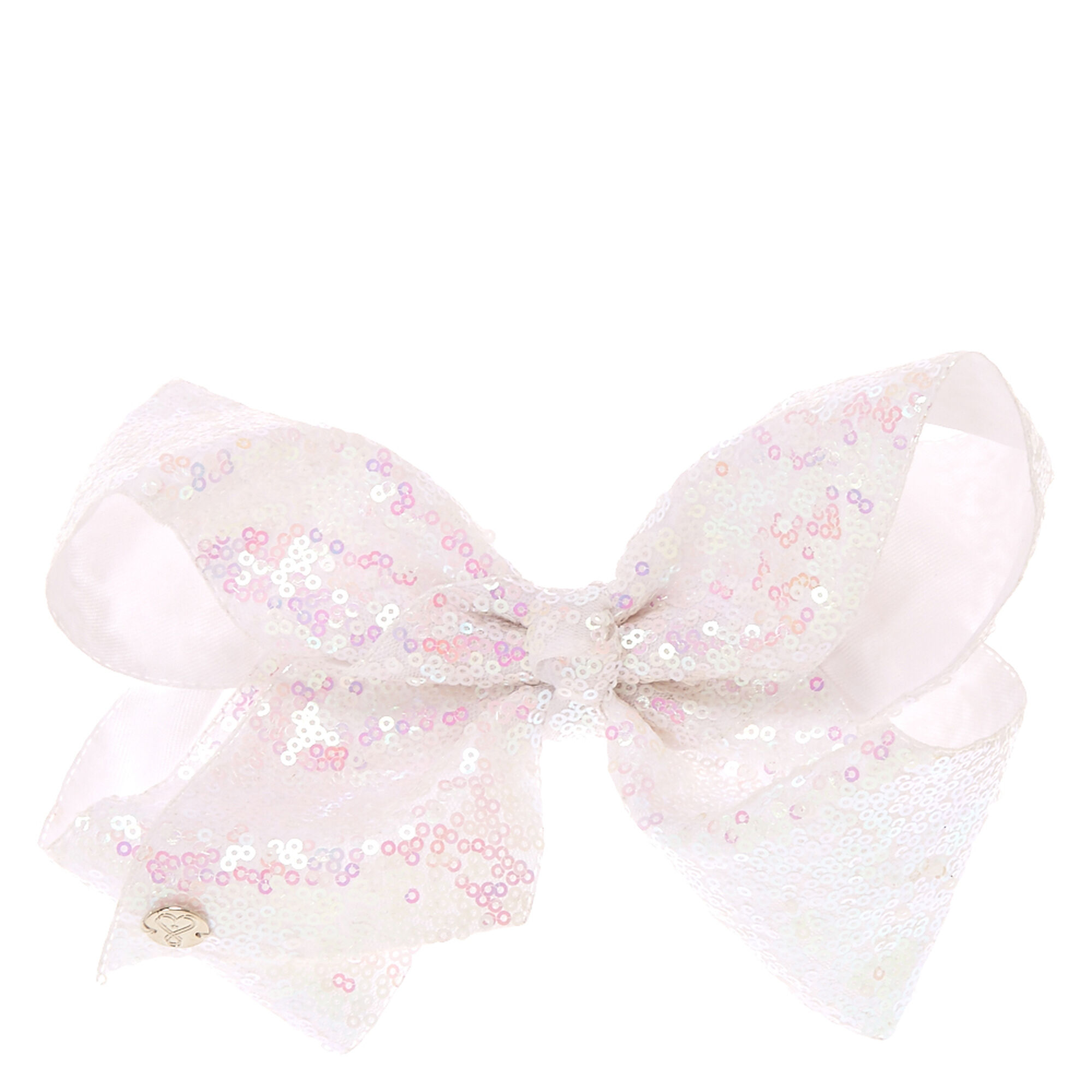 JoJo Siwa White Sequin Signature Bow