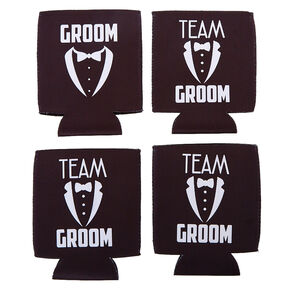 Team Groom Drink Koozies,