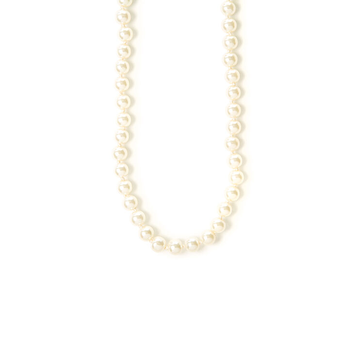 """Classic 8MM 20"""" Pearl Strand Necklace,"""