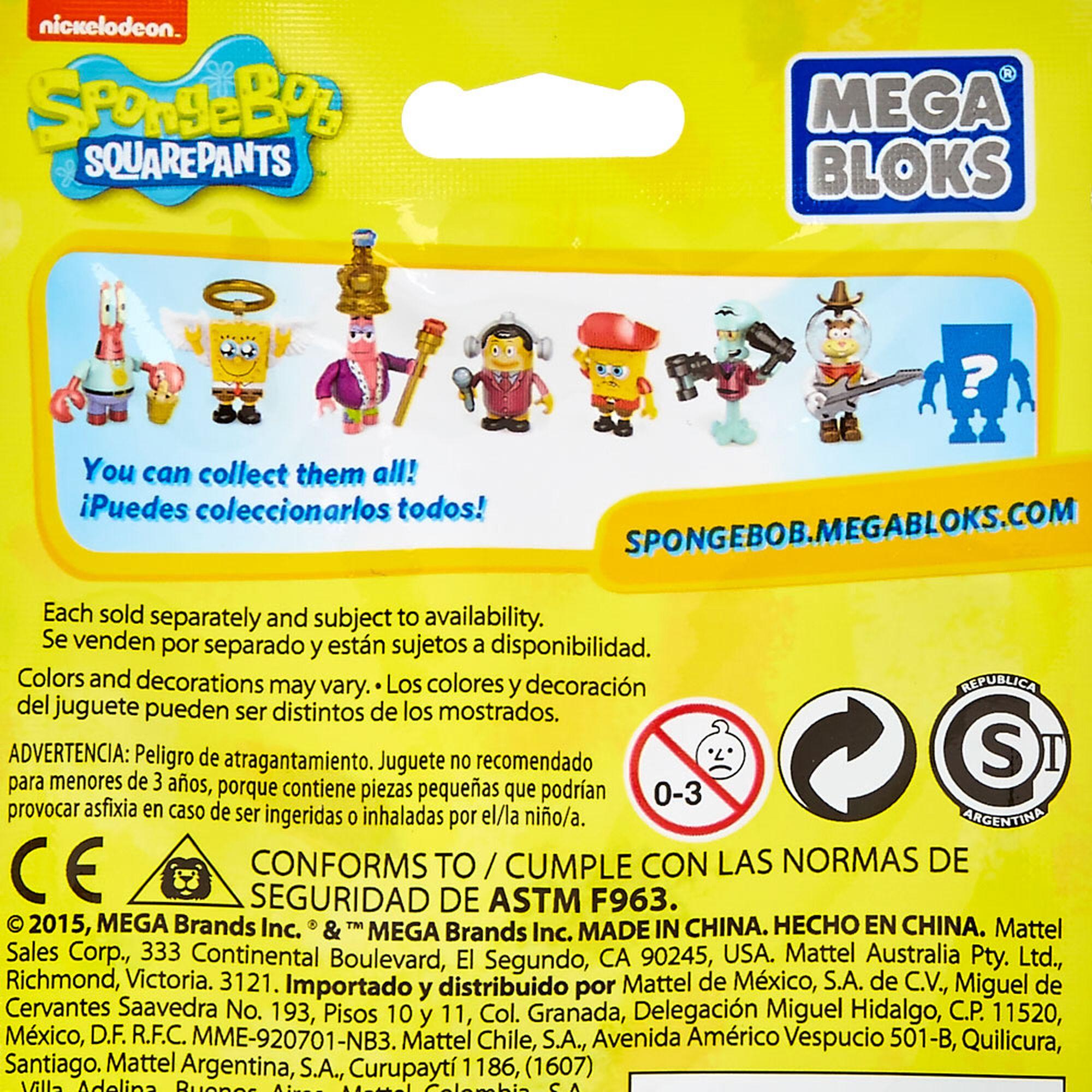 spongebob square pants mega blocks blind pack claire u0027s us