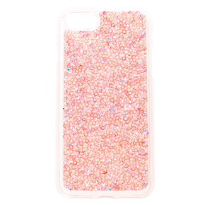 Blush Pink Crushed Crystal Phone Case,